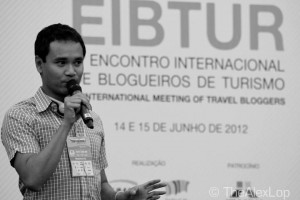 Keith Jenkins speaking at the EIBTUR conference in Brazil.