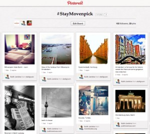 The #StayMovenpick Pinterest board
