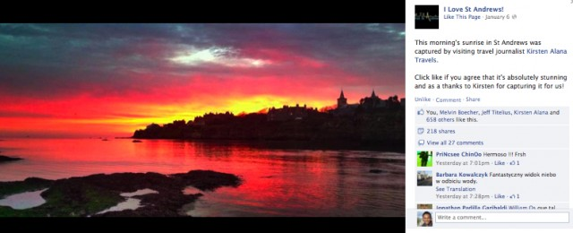 Sunrise at St. Andrews (image by Kirsten Alana)
