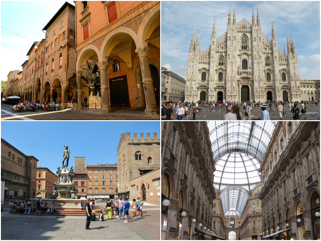 Blogville apartments will be located in Bologna (right) and Milan (left).